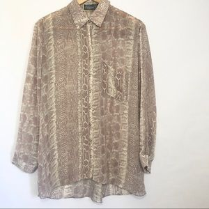 Costa Blanca Collections Snake Print Blouse